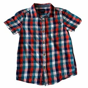 Lucky Brand Button Down Plaid Shirt Size Small